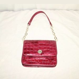 Brighton small magenta metallic purse